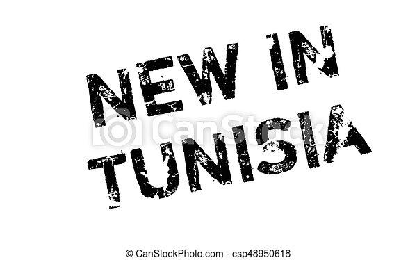 New In Tunisia rubber stamp - csp48950618