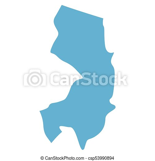 New jersey state map. Map of new jersey state on a white background ...