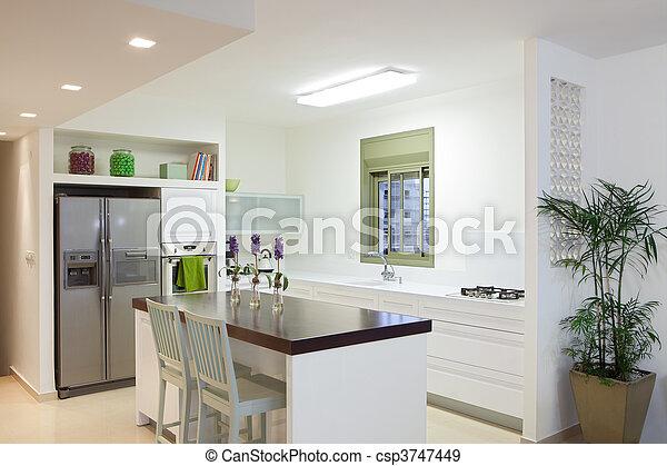 New kitchen in a modern home - csp3747449