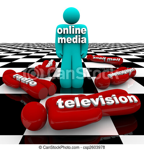 New Media vs. Old Media - The Battle is Won - csp2603978