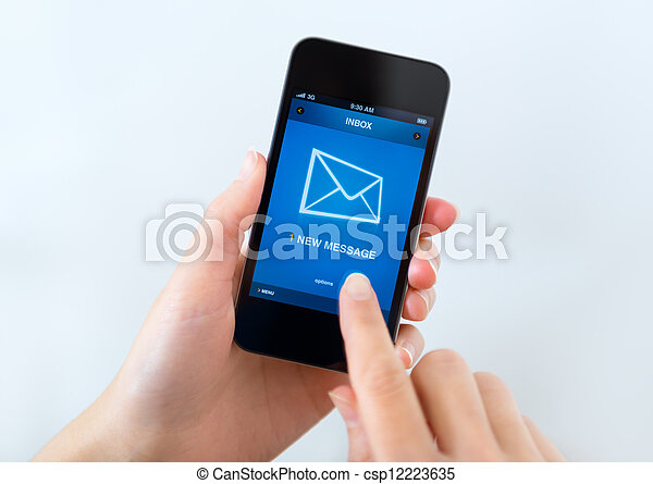 New message on mobile phone - csp12223635