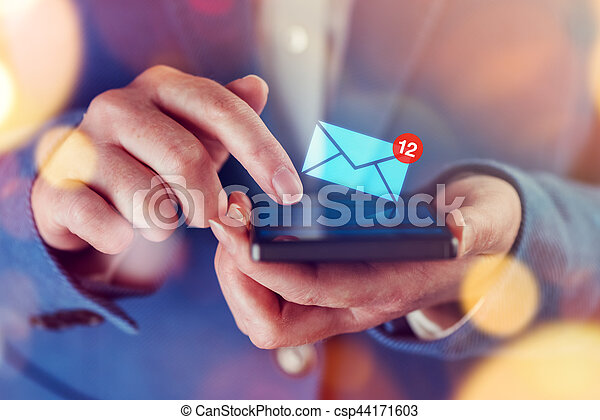 New messages on mobile phone - csp44171603