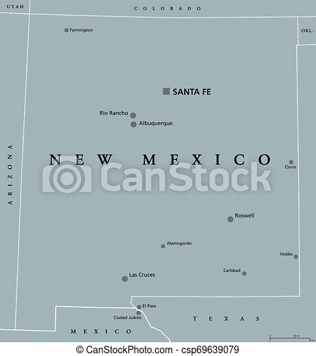 New Mexico United States political map