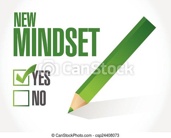 new mindset check list illustration - csp24408073
