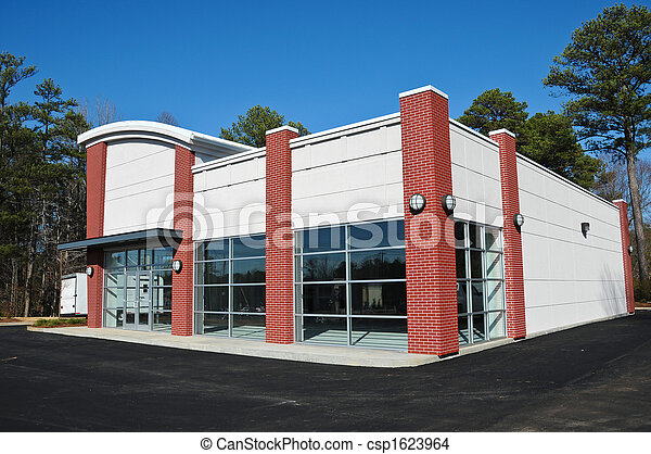 New Modern Commercial Building - csp1623964