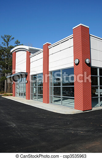New Modern Commercial Building - csp3535963