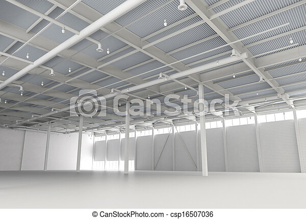 New Modern Empty Storehouse - csp16507036