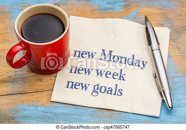 New Monday, week, goals - csp47565747
