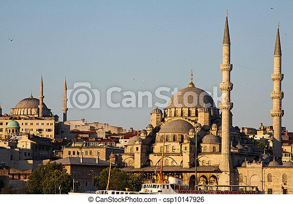 New Mosque (Yeni Cami) in Eminonu district of Istanbul, Turkey  - csp10147926