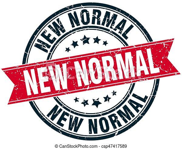 New Normal Round Grunge Ribbon Stamp