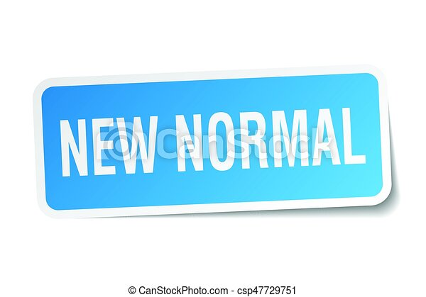 New Normal Square Sticker On White