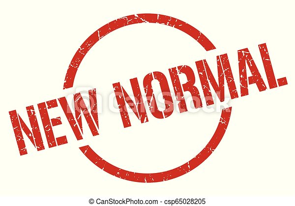 New Normal Stamp New Normal Red Round Stamp