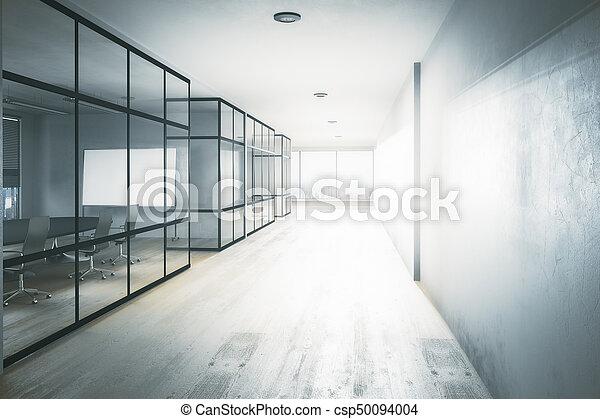 office hallway. New Office Hallway - Csp50094004 F