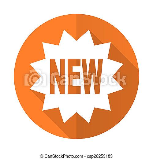 New orange flat icon.