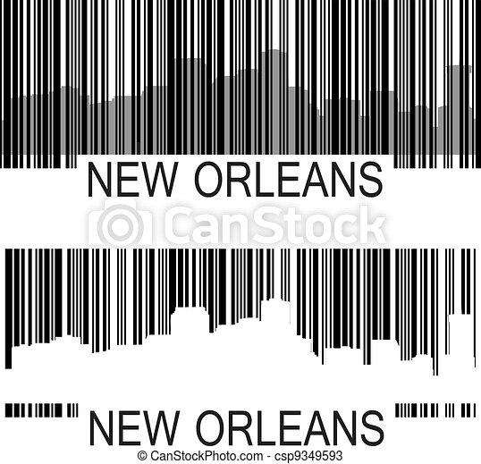 New Orleans barcode - csp9349593