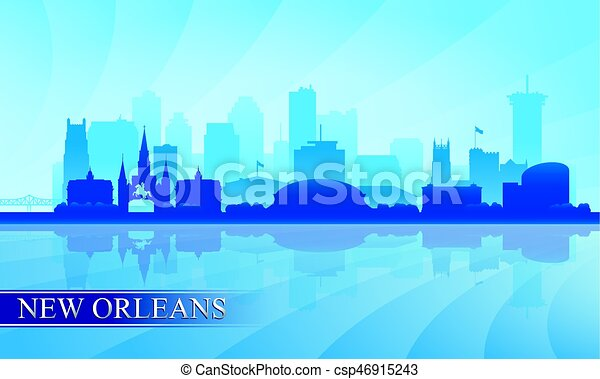 New Orleans city skyline silhouette background - csp46915243