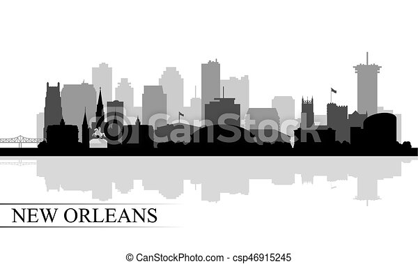 New Orleans city skyline silhouette background - csp46915245