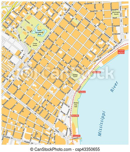 new orleans, french quarter - csp43350655