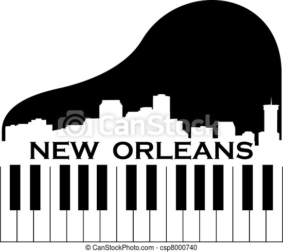 New Orleans Music City Of New Orleans High Rise Skyline