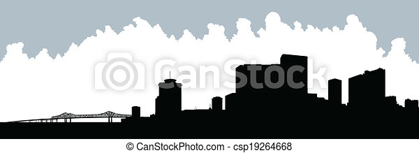 New Orleans Silhouette - csp19264668