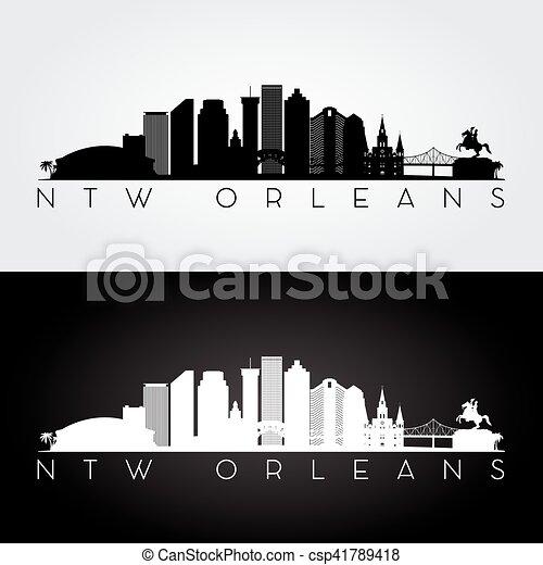New Orleans skyline silhouette - csp41789418