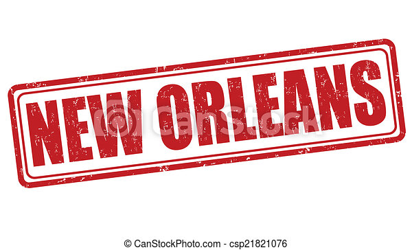 New Orleans stamp - csp21821076