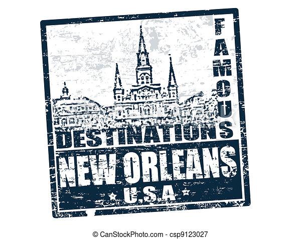 New Orleans stamp - csp9123027