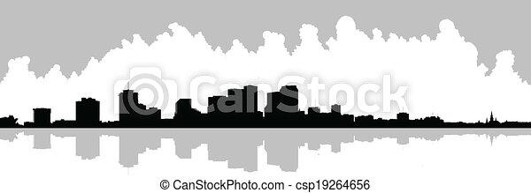 New Orleans Waterfront Skyline - csp19264656