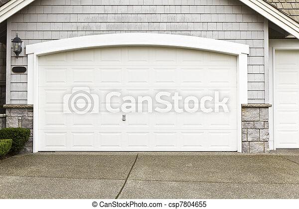 New paint job on garage door frame. New white paint job on garage ...