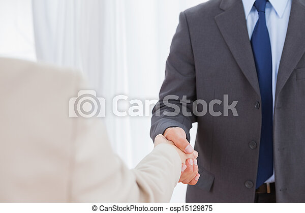 New partners shaking hands - csp15129875