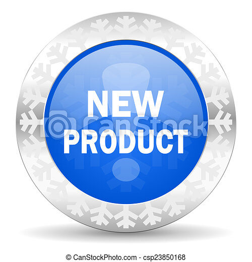 new product blue icon, christmas button - csp23850168