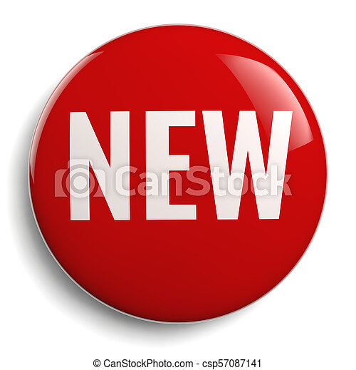 New Red Round 3D Symbol - csp57087141