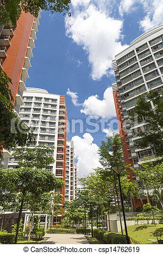 new residential estate - csp14762619