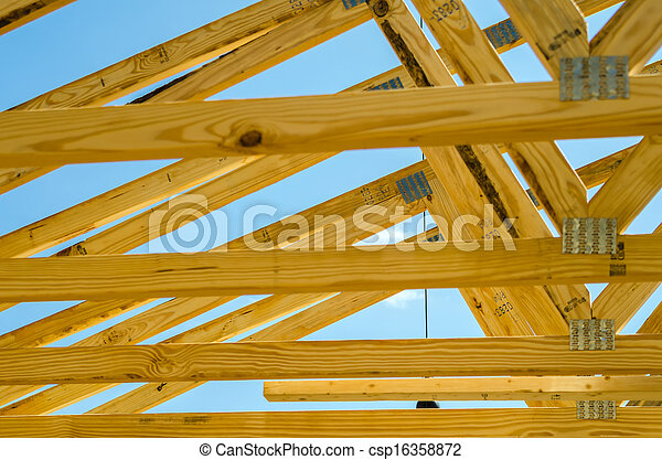 new roof construction - csp16358872