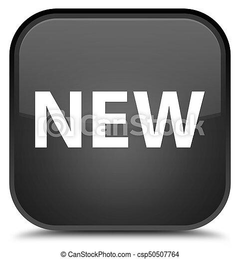 New special black square button - csp50507764