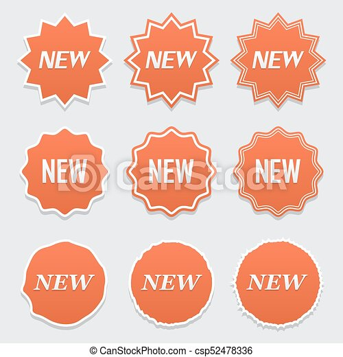 new sticker set vector sale banner for web store product stickers