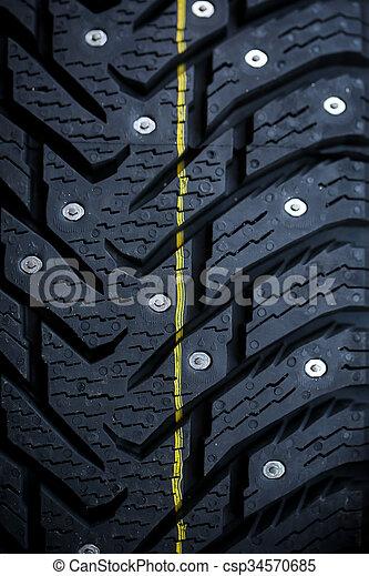 New studded tire - csp34570685