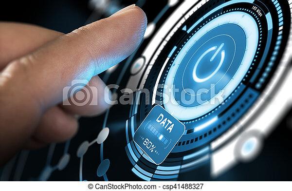 New Technology, Futuristic User Interface - csp41488327