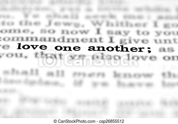 New Testament Scripture Quote Love One Another - csp26855512