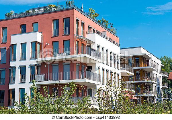 New townhouses seen in Berlin - csp41483992