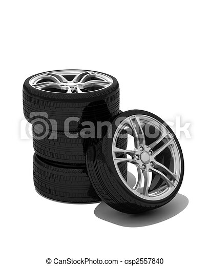 new wheels with steel rim - csp2557840