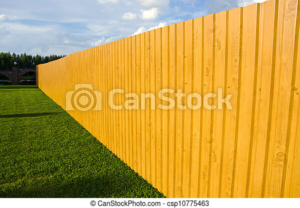 new wooden fence in farm - csp10775463