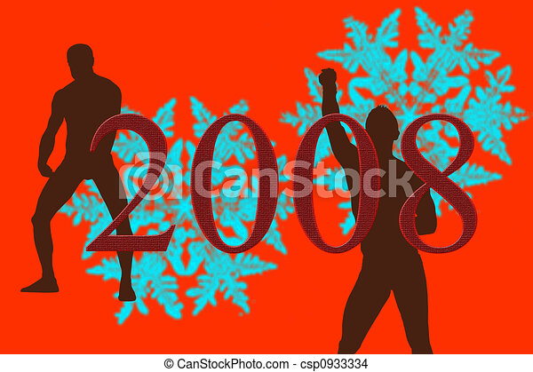 New Year 2008 - csp0933334