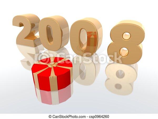New year 2008 - csp0964260