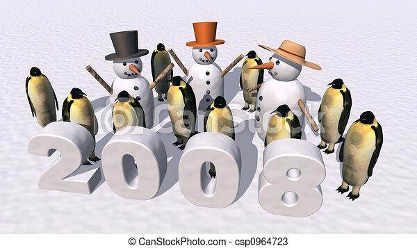 New Year 2008 - csp0964723