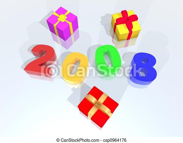 new year 2008 - csp0964176