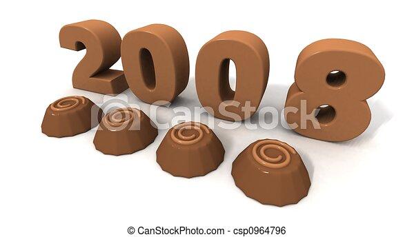 New Year 2008 - csp0964796