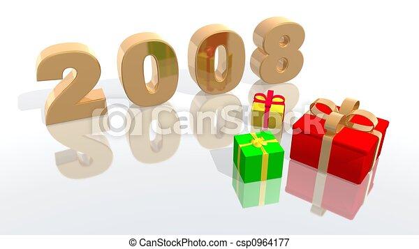 new year 2008 - csp0964177