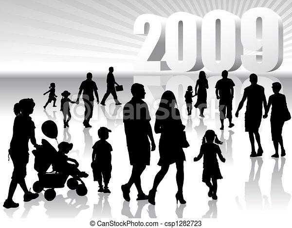 New year 2009 - csp1282723