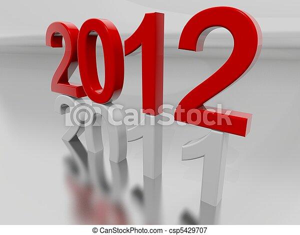 New Year 2012 - csp5429707
